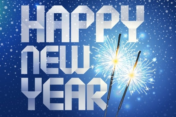 happy_new_year_origami_background_vector_163977